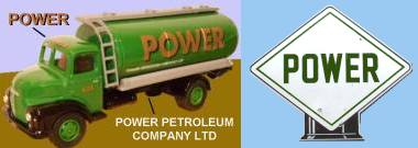 Power petrol road tanker and post war pump globe