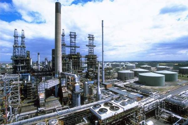 Photo of the CobocoPhillips refinery at Humberside