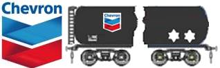 Chevron logo and tanker sketch