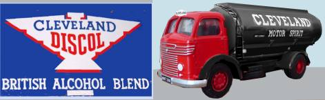 Cleveland pre-war logo and post war lorry livery