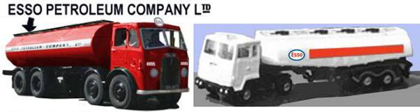 Esso lorries in 1960s and 1970s livery