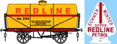 Redline tank and advertising plate