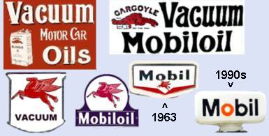 Mobil signs and pump tops