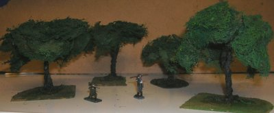 Wargame scenery and terrain - Trees, hedges and bushes